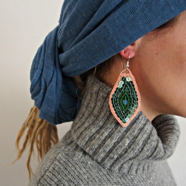 embroidered earrings Jasna