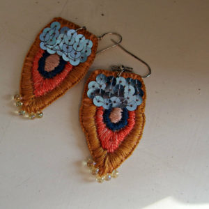 embroidered earrings Constantinopol