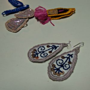 embroidered earrings Primavera
