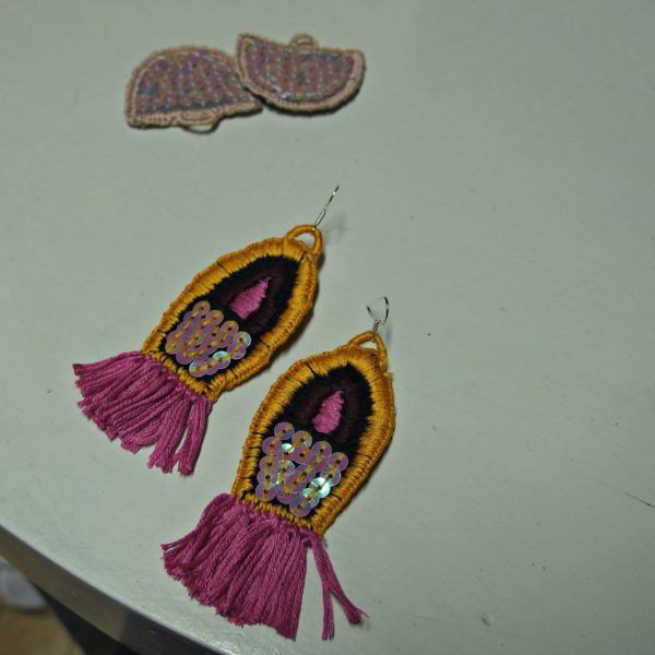 embroidered earrings Rio