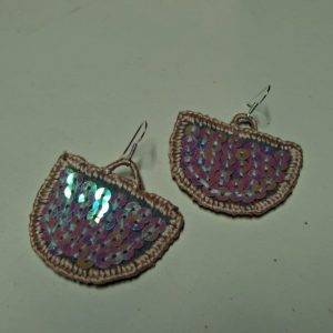embroidered earrings Selena