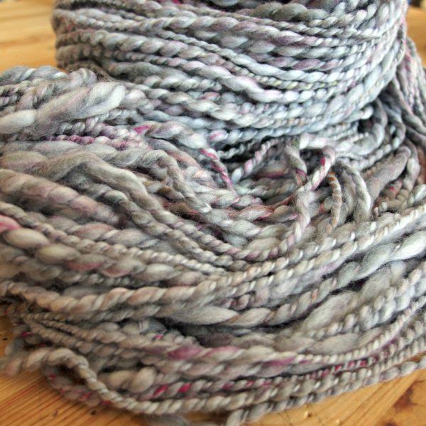 handspun spiral yarn