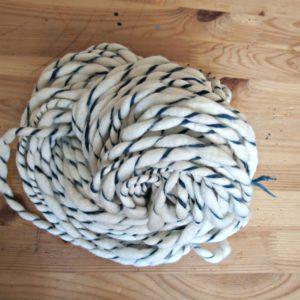 handspun merino spiral yarn
