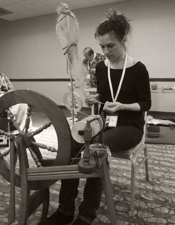 spinning flax, PLYAway 2019