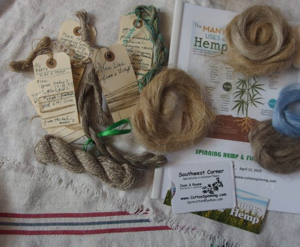 vzorky ľanu a konope /flax and hemp samples